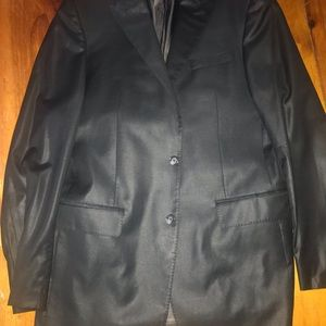 Black two button double-vented Valentino suit